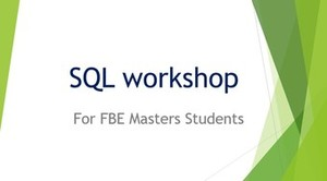 Introduction to SQL for Data Analysis Workshop (Online Training)